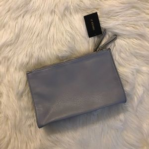 Forever 21 Gray Zippered Clutch